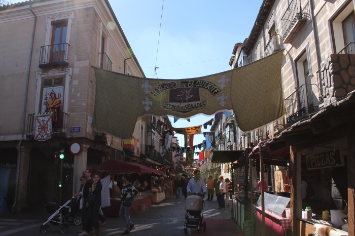 The winding streets were lined with stalls as far as the eye could see