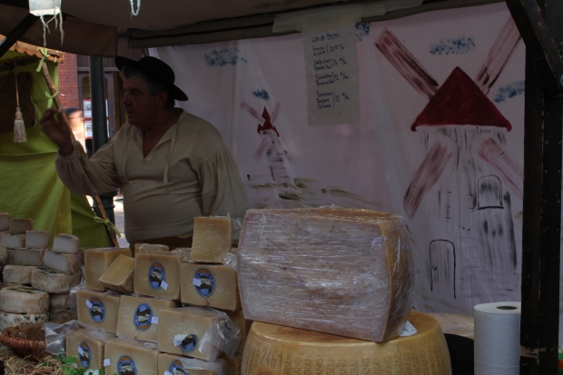 So many cheese stands...all with free samples. Mmmm. In one night I've cultivated a new love for sheep and goat cheese.