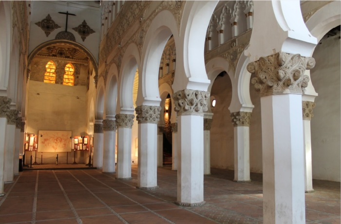 Santa María La Blanca, the oldest synagogue in Europe still standing, built in the 11th century