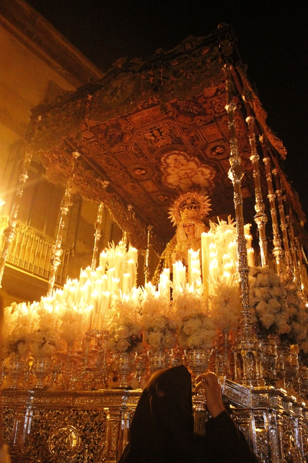 Sevilla. Mary with candles
