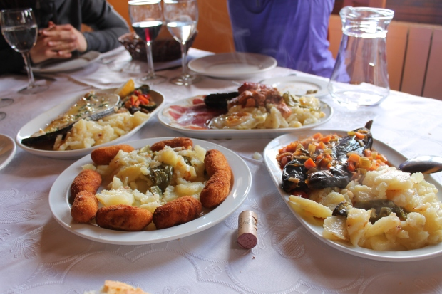 One of my more memorable meals here...in the Alpujarras mountainrange.