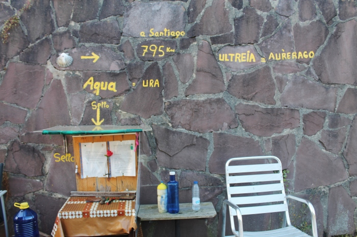 Ura stand outside of Donostia