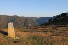 marker on mountain