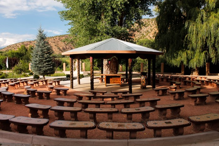 El Santuario de Chimayo, New Mexico, the pilgrimage site located near Santa Fe.
